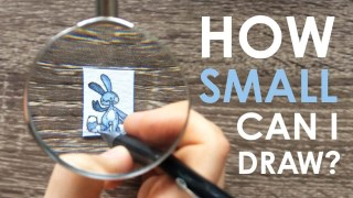 Teeny Weeny Challenge – How Small Can I Draw?!