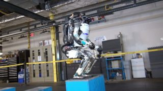 Atlas robot jumps and backflips