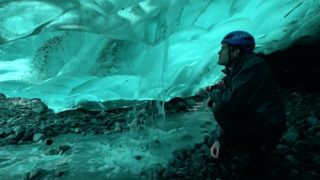 Go inside an ice cave to see nature's most beautiful blue