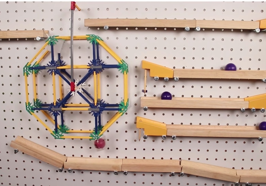 Red Ball Adventure A Chain Reaction Marble Run On A