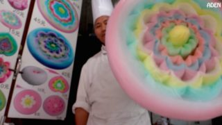 How a gigantic cotton candy flower is made