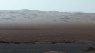 Curiosity at Martian Scenic Overlook, a panorama image of its 5 year journey