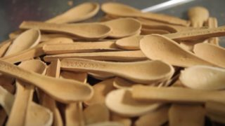 An innovative edible spoon, a smart alternative to plastic waste
