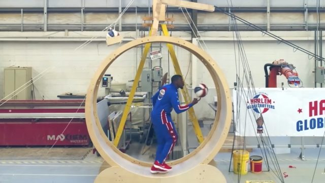 The Harlem Globetrotters' Rube Goldberg Trick Shot Machine