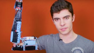 Building a prosthetic arm with parts from a LEGO Technic Air Race Jet