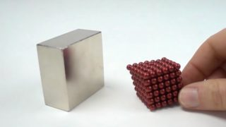 Neodymium magnet collisions filmed in slow motion