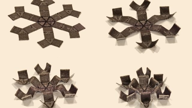 3D-printed structures that shape-shift with magnetic microparticles