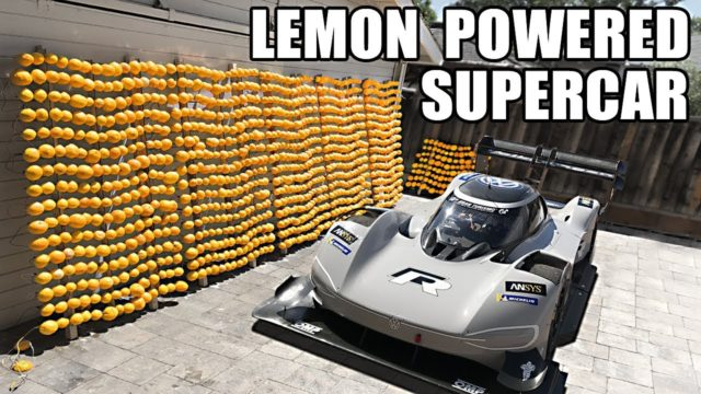 A lemon-powered supercar and making the world's largest lemon battery