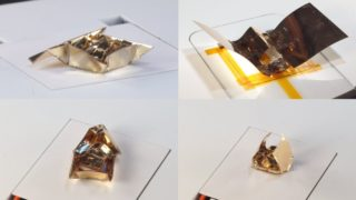 These tiny origami robot transformers use magnetic fields to walk, roll, sail, and glide
