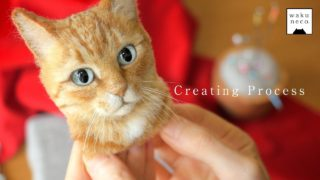 Making hyperrealistic cat portraits with wool felt