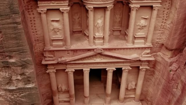 The spectacular stone monuments of Petra, Jordan