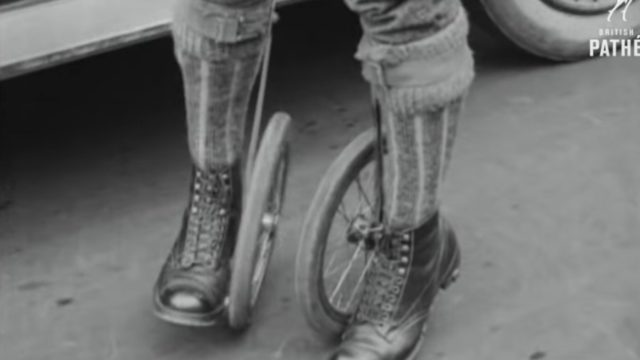 Cycle-Skating, the new sport of 1923