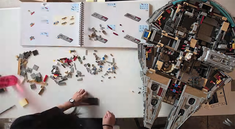 millenium falcon LEGO build