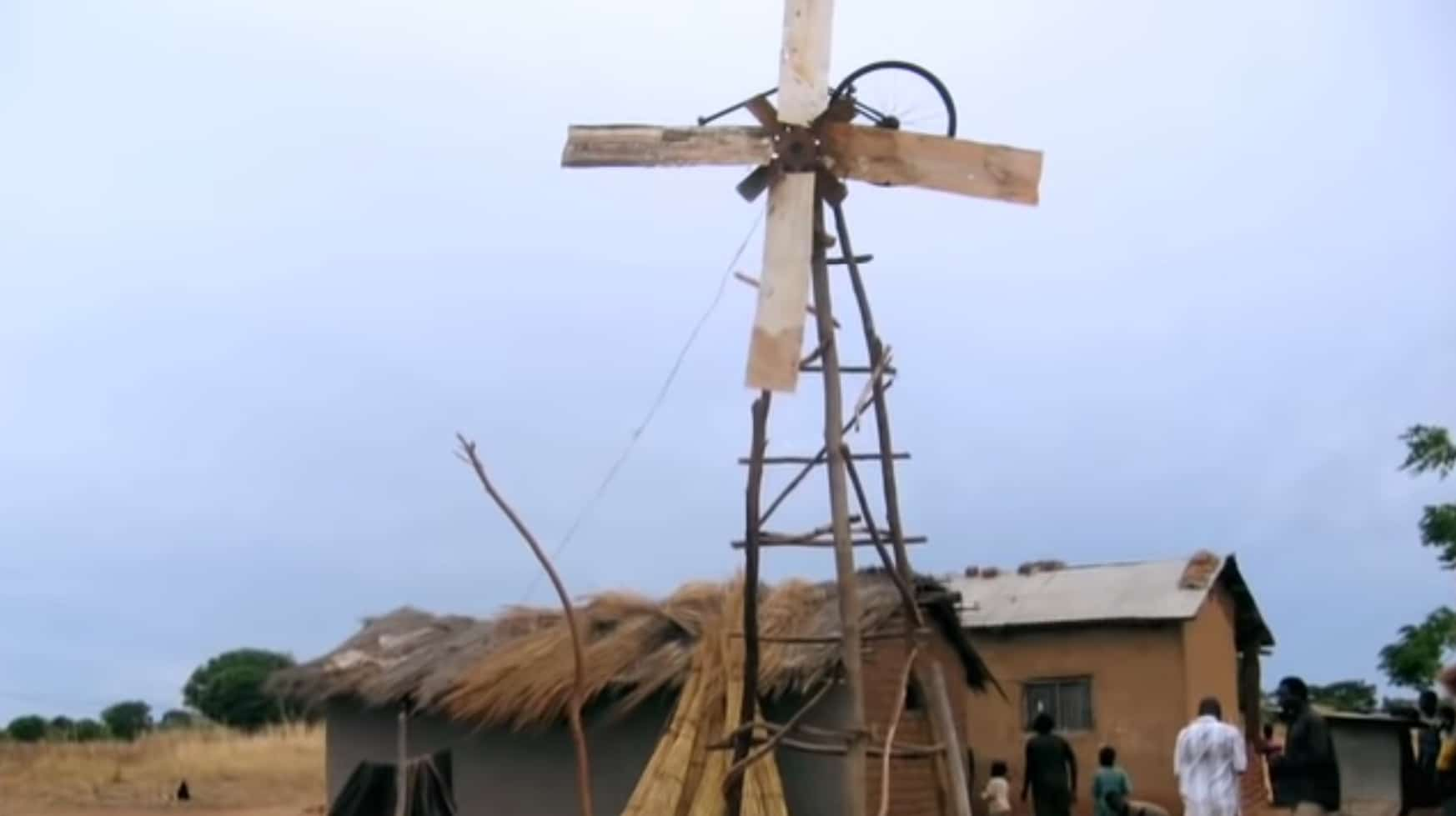 William Kamkwamba's first windmill