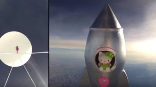 Hello Kitty goes to space