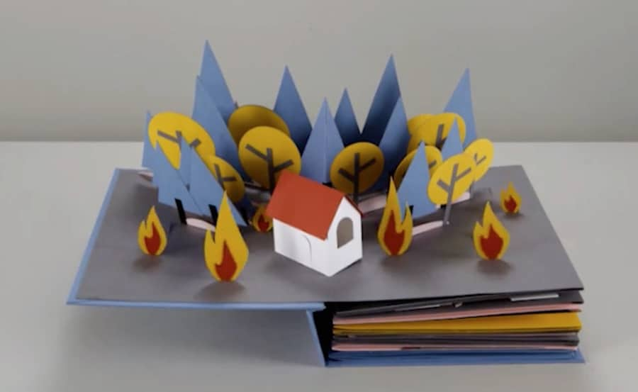 water cycle paper stop motion - forest