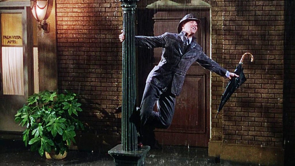 gene kelly on the light pole