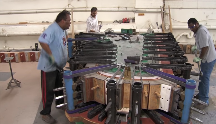 building a steinway grand piano