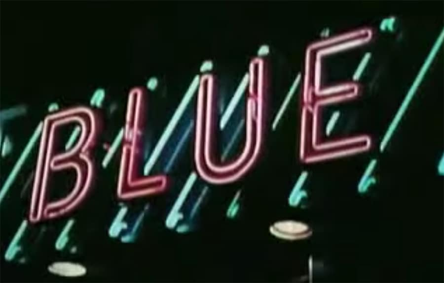 blue word sign