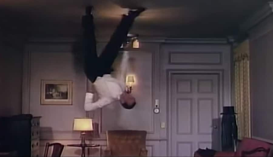 fred astaire on the ceiling