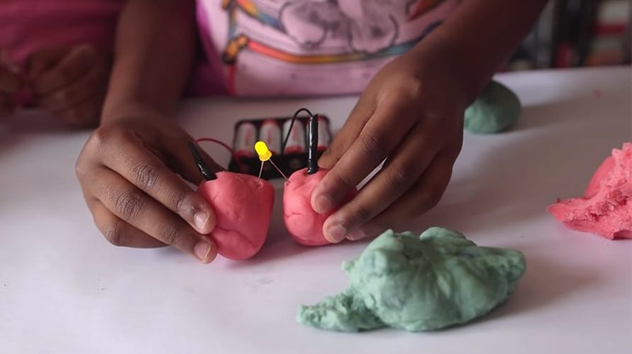 playdough with LED