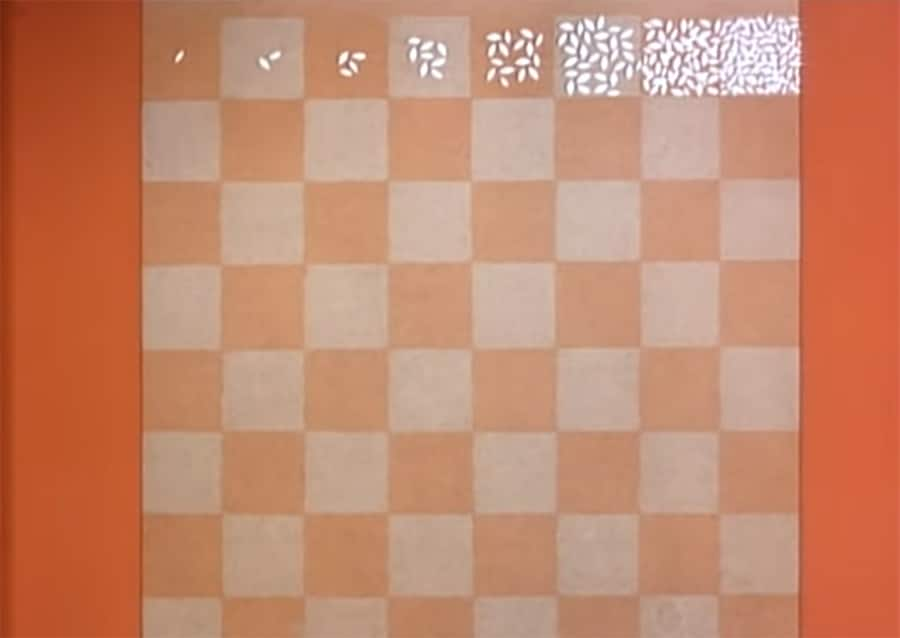 wheat grains on a chessboard