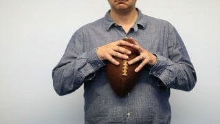 Stitching an Artisanal American Football