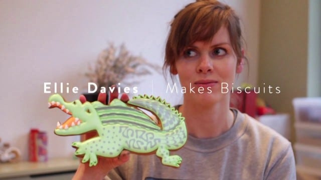 Artisan biscuit maker Ellie Davies makes illustrated biscuits