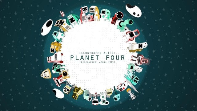 Illustrated Aliens: Planet Four by Andy Martin
