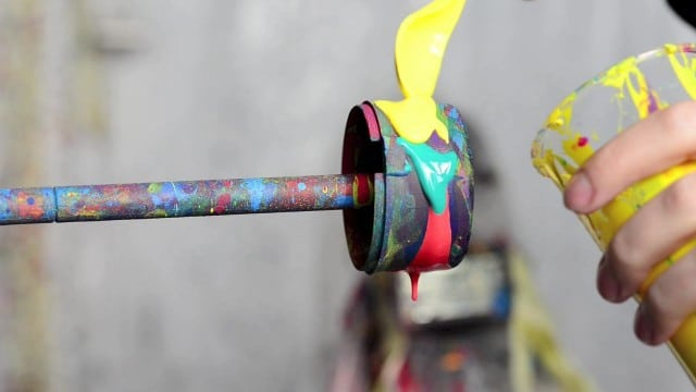 Paint colors spun at high speeds –Black Hole by Fabian Oefner