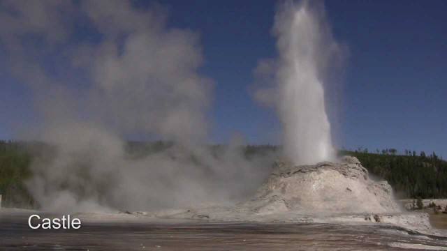 The Geysers of Yellowstone National Park in action