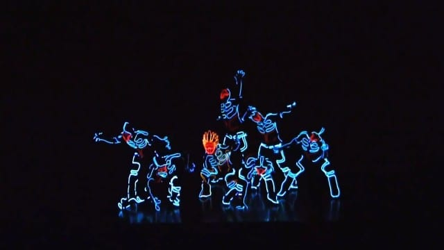 Wrecking Crew Orchestra and their glowing dance costumes