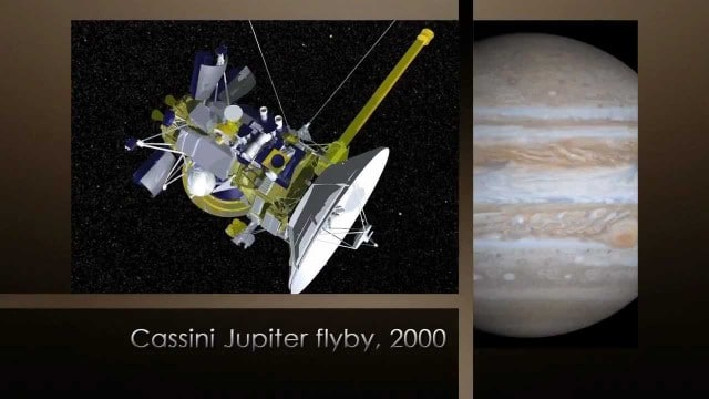 NASA's Cassini spacecraft: Flying by Jupiter (2000)