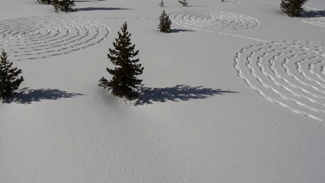 Snow Circles: Beautiful snow patterns by Sonja Hinrichsen