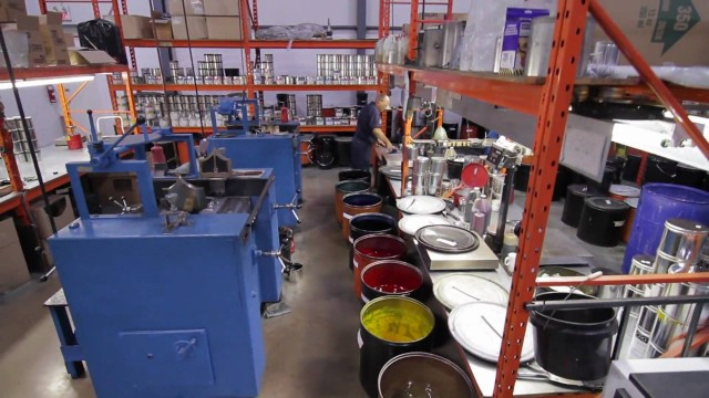 How Ink Is Made – Pigment powders, varnish, & big machines