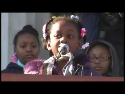 """Students remember Martin Luther King Jr.'s """"I have a dream"""" speech"""
