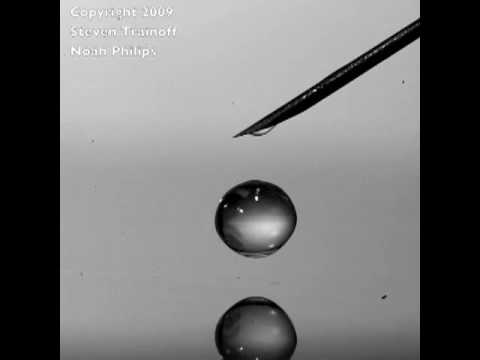 Coalescence cascade: The bouncing droplet in slow motion