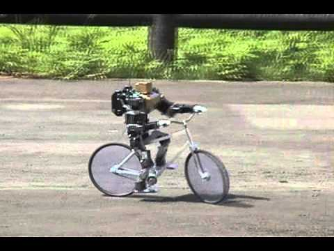 Robot riding a bicycle