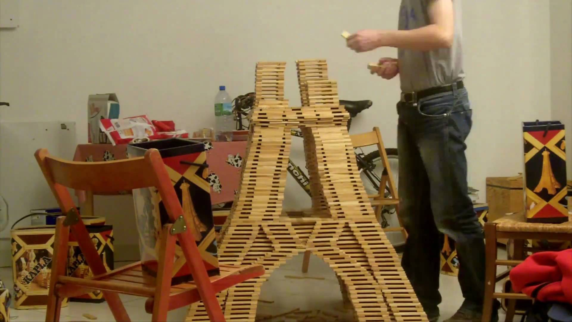An Eiffel Tower Made From Kapla Blocks The Kid Should