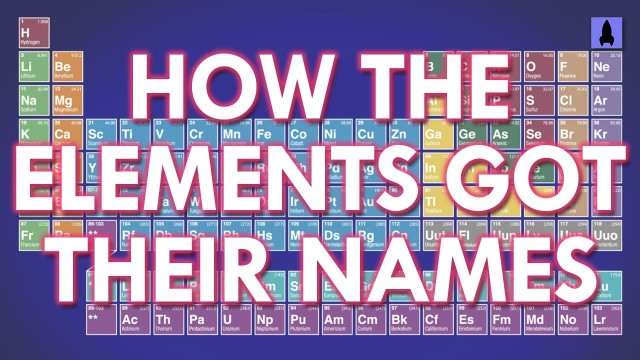 How The Elements Got Their Names – It's Okay to Be Smart