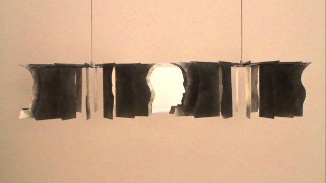 Rotating head illusion and Yes/No by Markus Raetz