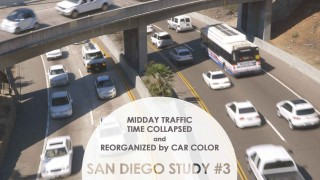 Midday Traffic Time Collapsed and Reorganized by Color