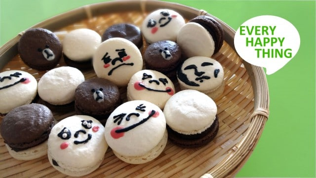 Every Happy Thing: How to make macarons with cute faces