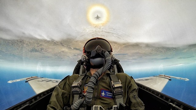 Flying in a F-16 Fighter Jet with the USAF Thunderbirds