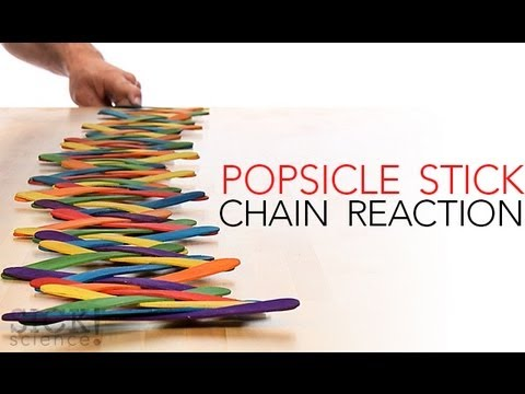 How To Make A Popsicle Stick Chain Reaction The Kid