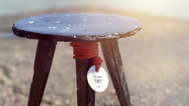 Sea Chair: Making a stool from plastic debris found in the open sea