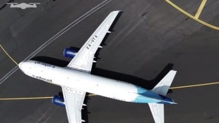 Mexico City International Airport from a drone's-eye view