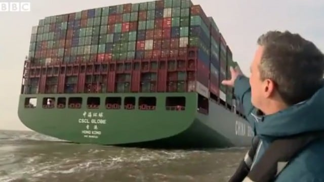 The Globe: Exploring the world's largest container ship