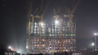 Time lapse construction of the world's tallest prefab skyscraper