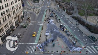 JR's A Walker in New York City, an installation time lapse